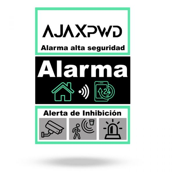 cartel alarma aluminio