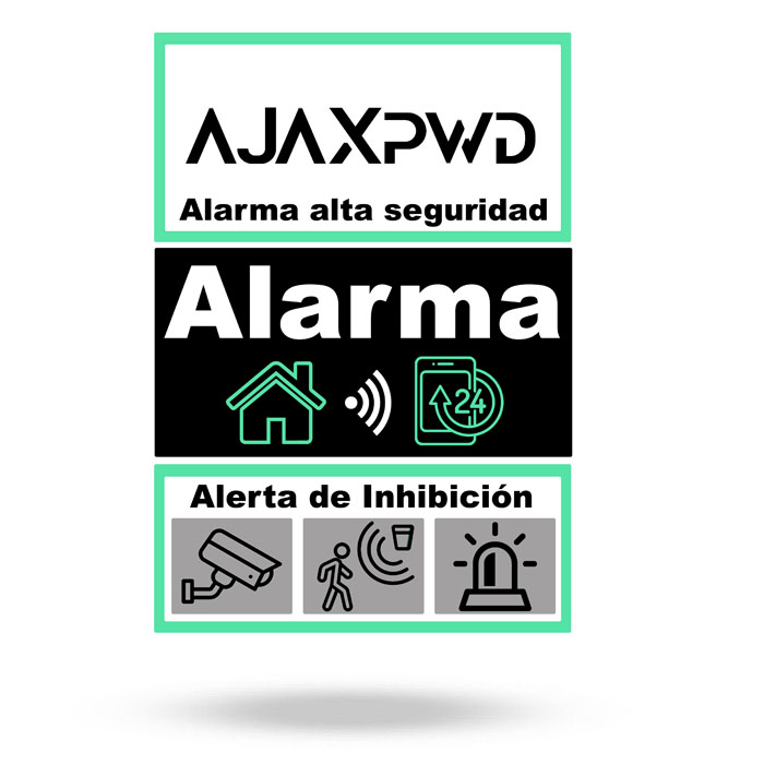 Vinilo disuasorio puerta /buzón . Alarma Ajax tamaño A7